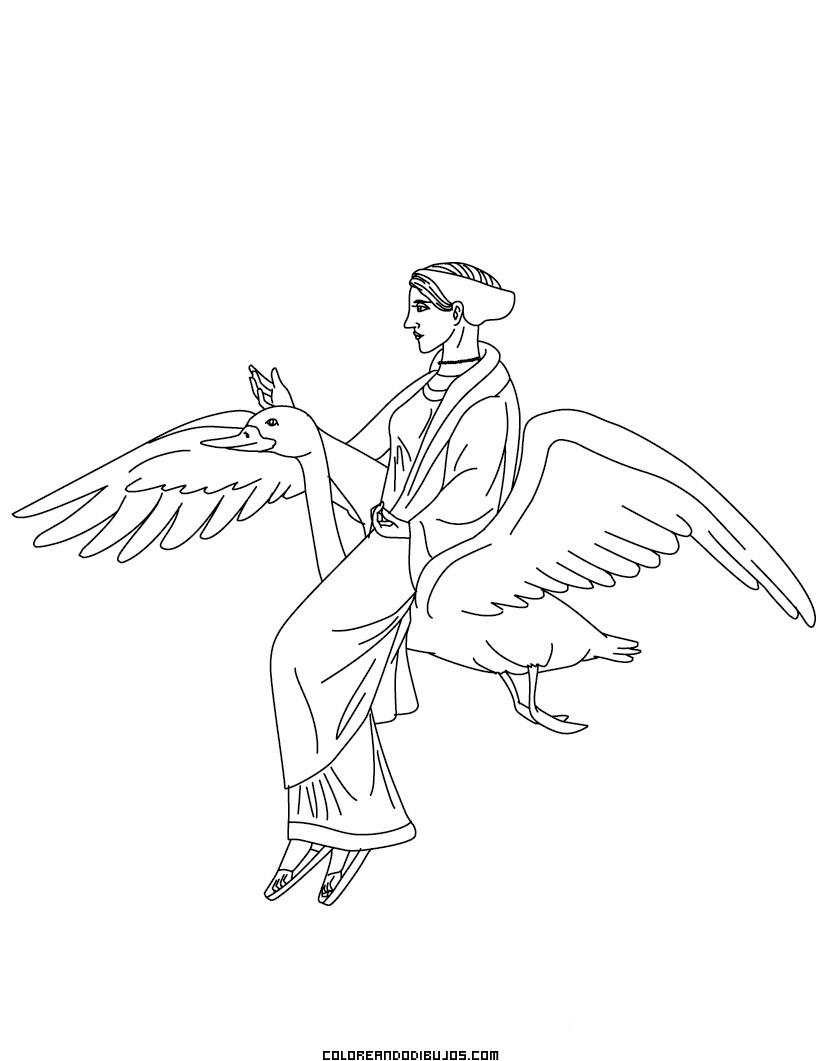 Dibujo de Afrodita para colorear