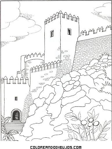 La Alcazaba de Almería para colorear