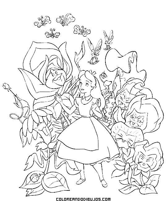Flores gigantes con Alicia