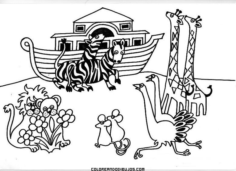 Dibujos Para Colorear Del Arca De Noe Para Imprimir: Arca De Noé Para Colorear