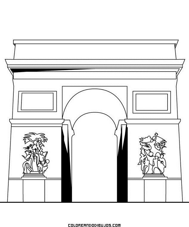 Arco de Triunfo para colorear
