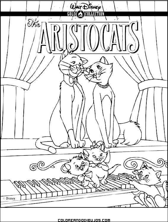 Colorea los Aristogatos