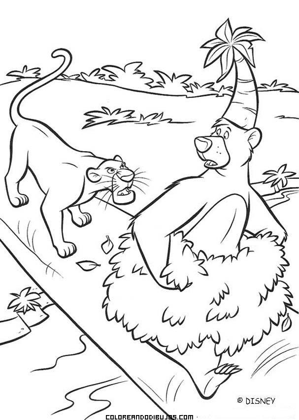 Baloo y Baguira de El libro de la Selva