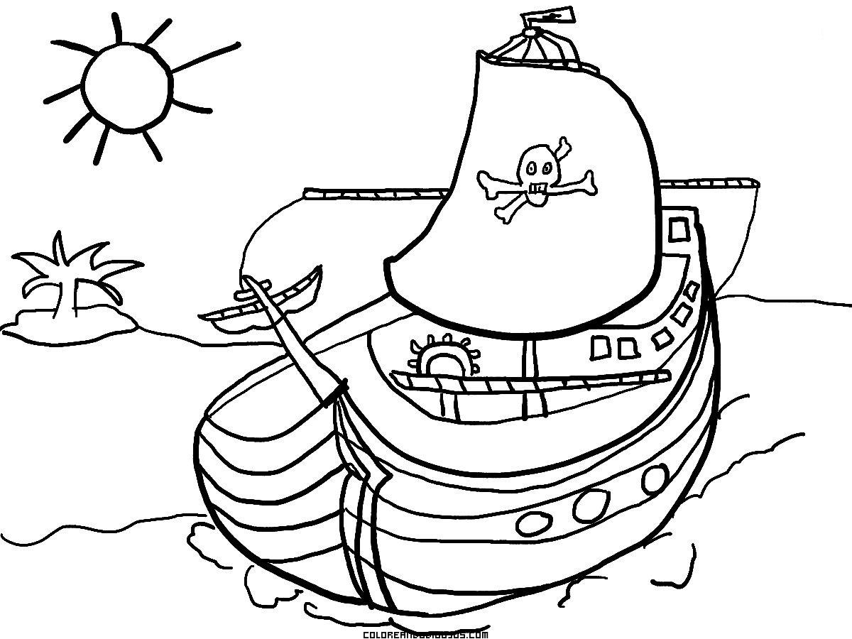 pirata para colorear