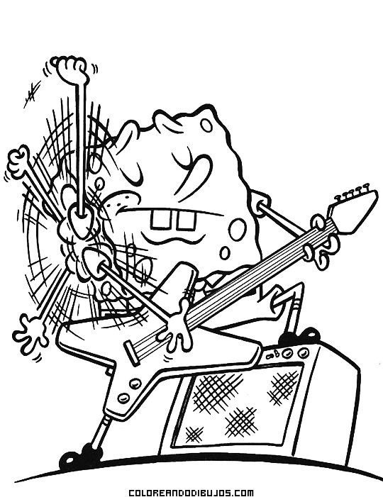 A Bob Esponja le apasiona el Rock