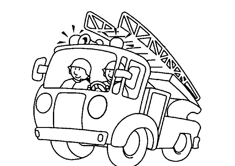 Camión De Bomberos Para Colorear Dibujos Para Colorear