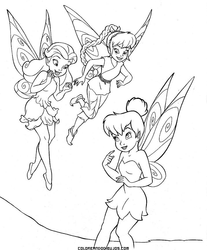 Vistoso Grupo De Hadas De Disney Para Colorear Imagen - Dibujos Para ...