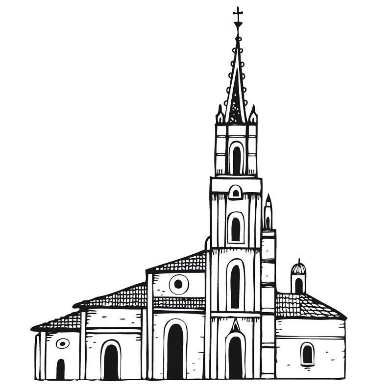 Catedral para colorear