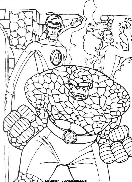 elastico superheroes coloring pages - photo#33