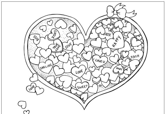 Corazón relleno de corazones
