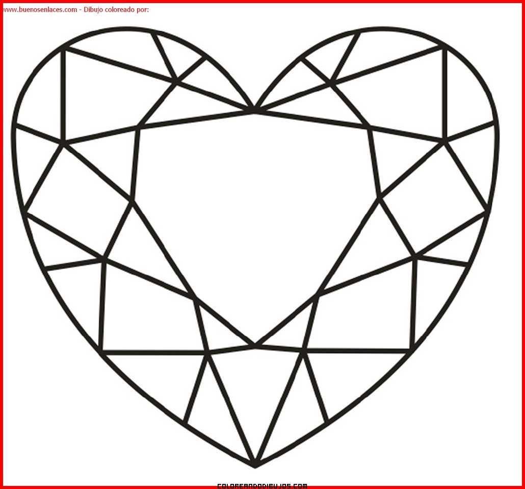 Corazón de amor para colorear