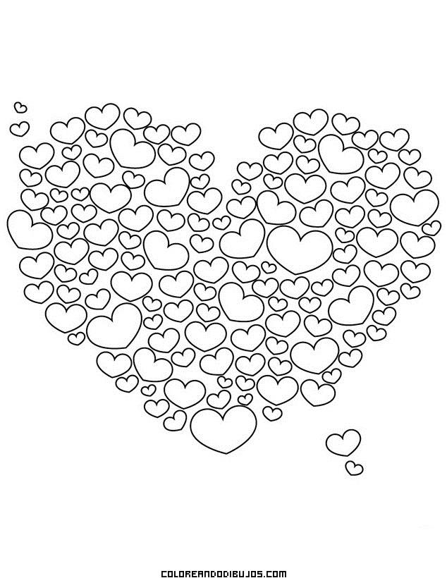 Corazón relleno de cientos de corazones