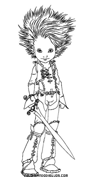 Dibujo de Arthur y los Minimoys para colorear