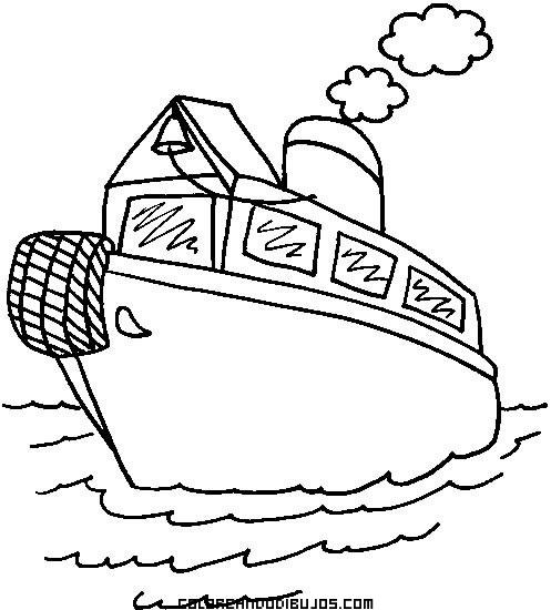 Barco De Vapor Para Colorear