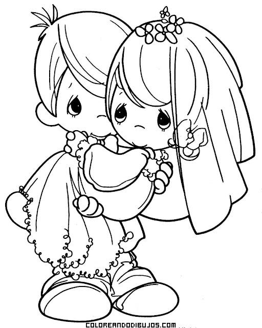 Ceremonia de boda infantil para colorear
