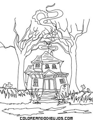 Casa encantada en el cementerio