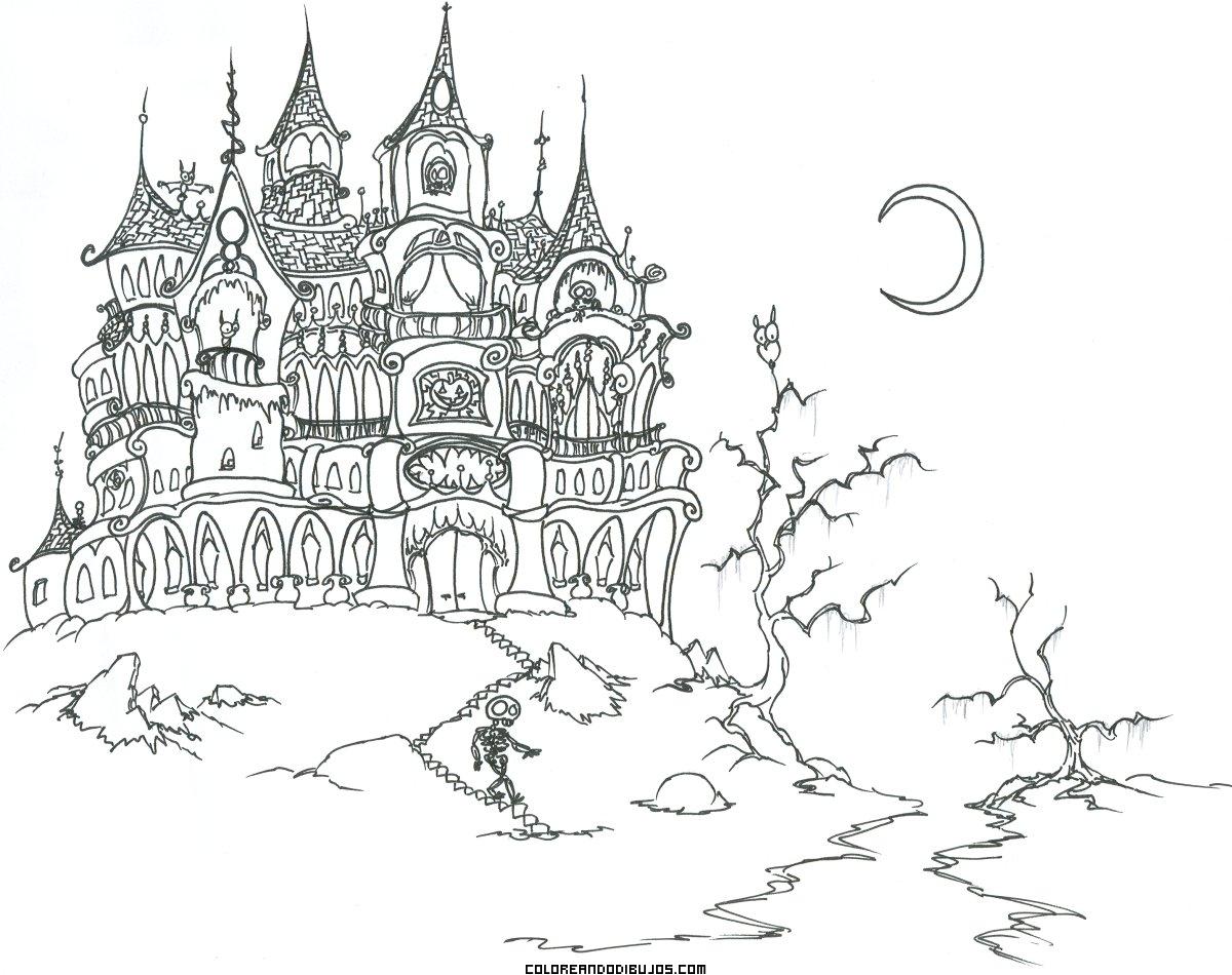 Dibujo de castillo encantado para colorear