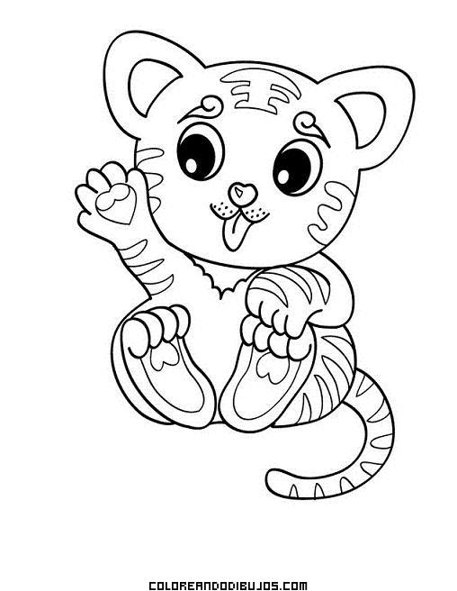 Tigre peque ito - Dessin tigre facile ...