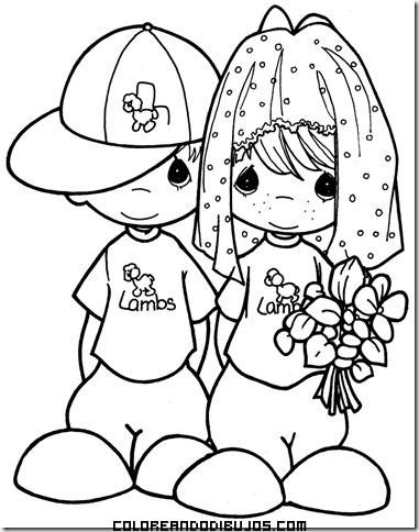 Dibujos de boda infantil