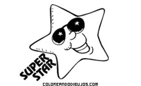 Estrella Super Star para colorear