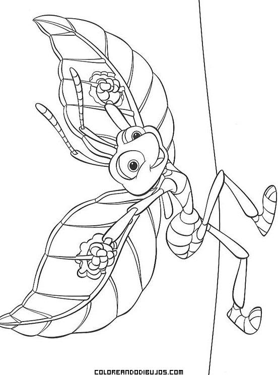 Hormiga alada para colorear