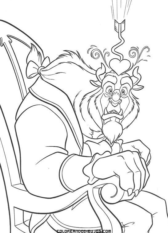 La Bestia de Disney para pintar