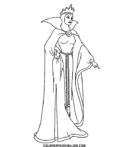 Dibujo de la madrastra de Blancanieves