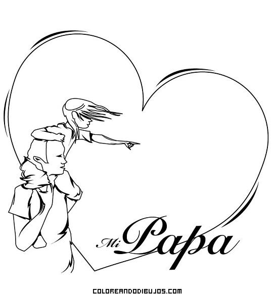 Enorme corazón para mi papá
