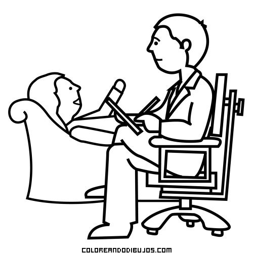 Psiquiatra ejerciendo su profesi n for Sillas para dibujar facil