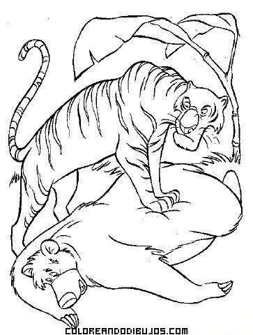 Dibujo Del Libro De La Selva Para Colorear