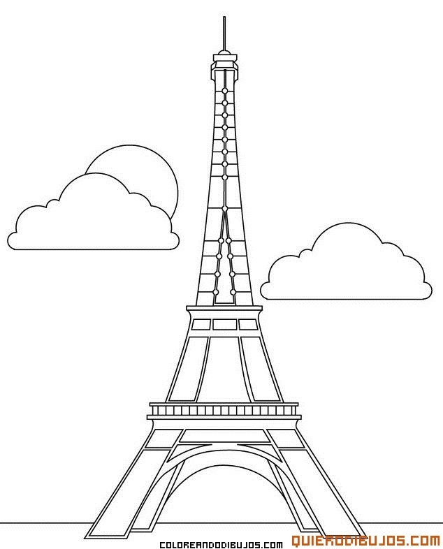Torre Eiffel para colorear