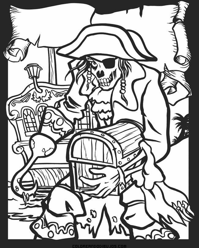 Monstruoso pirata para colorear