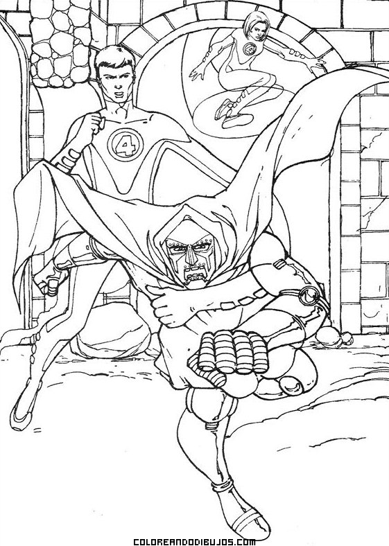 elastico superheroes coloring pages - photo#1