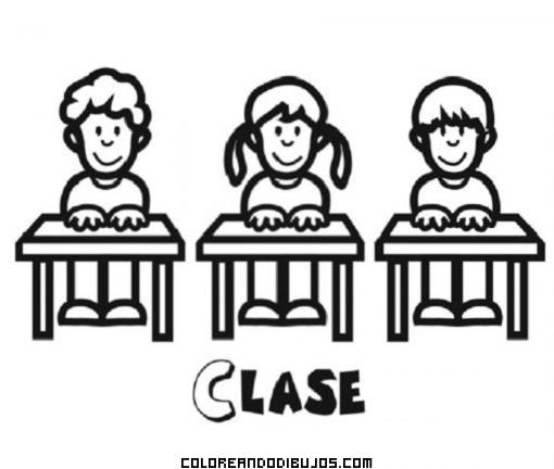 Niños en clase en la escuela