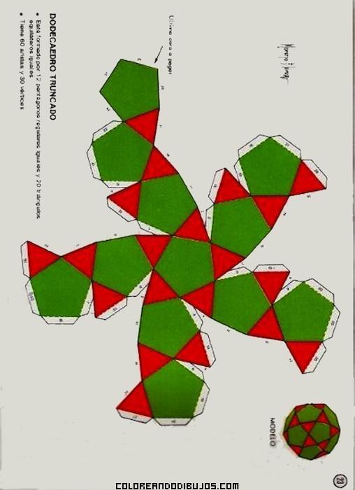 Figura geom trica de dodecaedro truncado for Sillas para armar y recortar