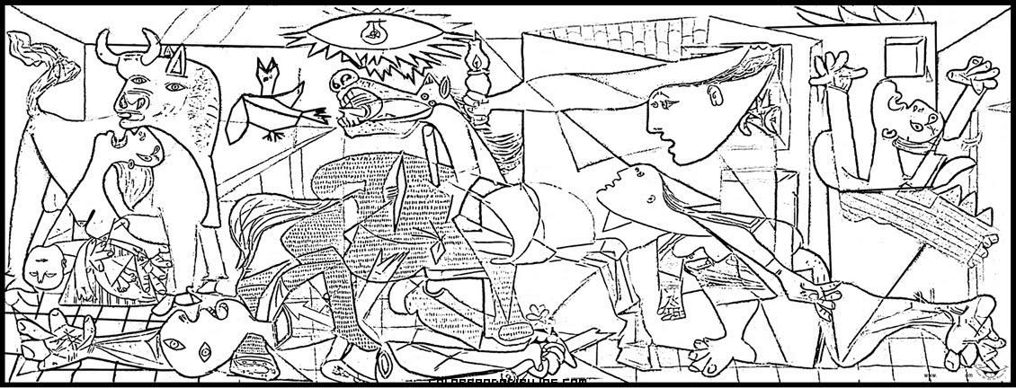 Guernica de Picasso para colorear