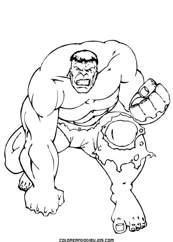 El increíble Hulk para colorear