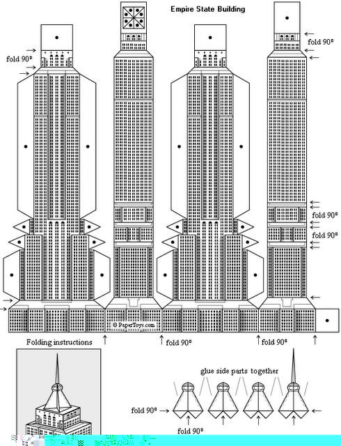 Maqueta del Empire State de Nueva York