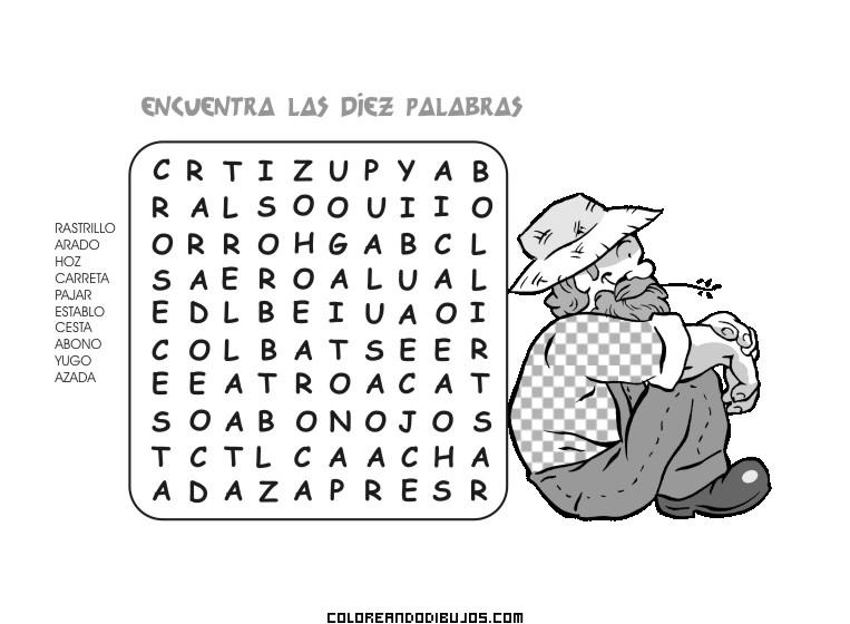 Encuentra las diez palabras