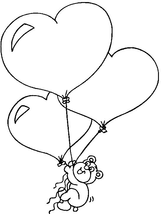 Osito volando con globos