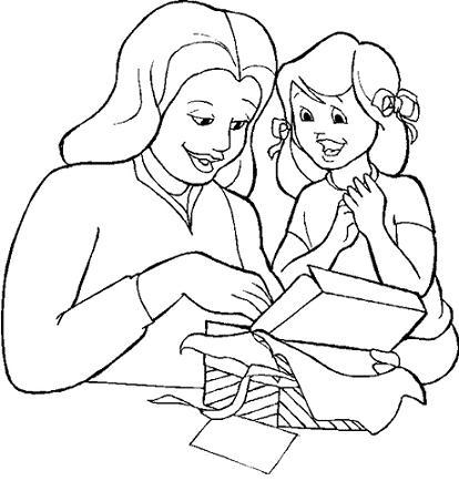 Hija y su mamá en el día de la madre