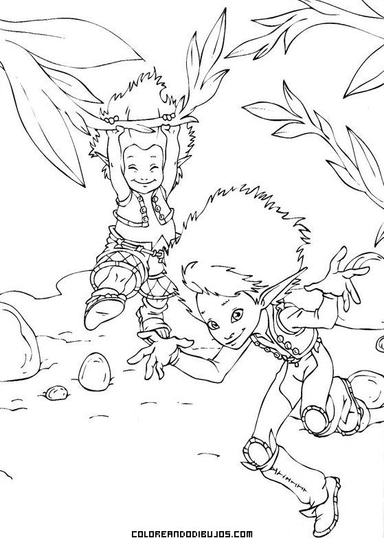 Arthur y los Minimoys en el bosque