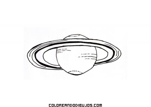 Saturno para colorear