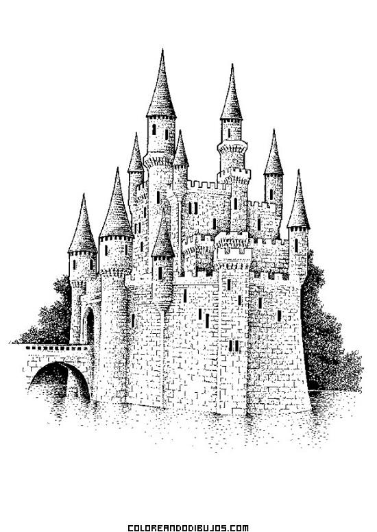 Gran defensa medieval para colorear