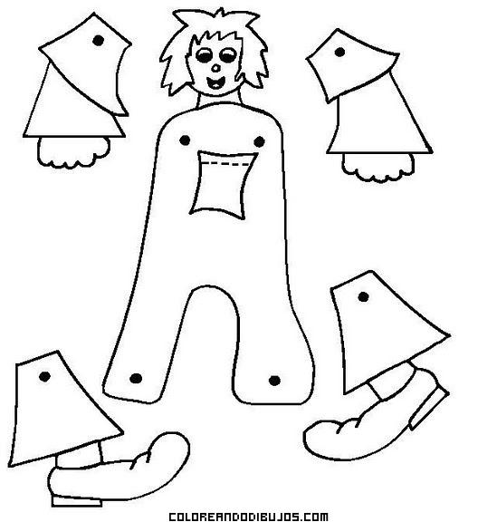Dibujo para recortar y armar - Imagui