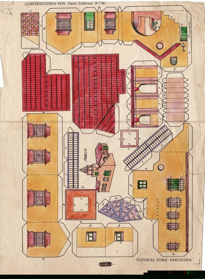 Maqueta de una casita for Sillas para armar y recortar