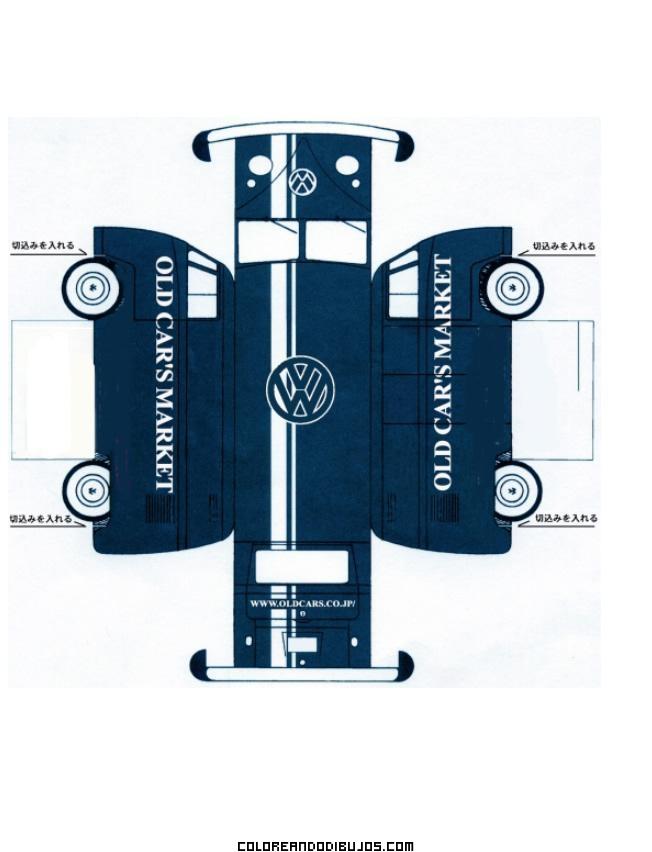 Maqueta de una furgoneta azul