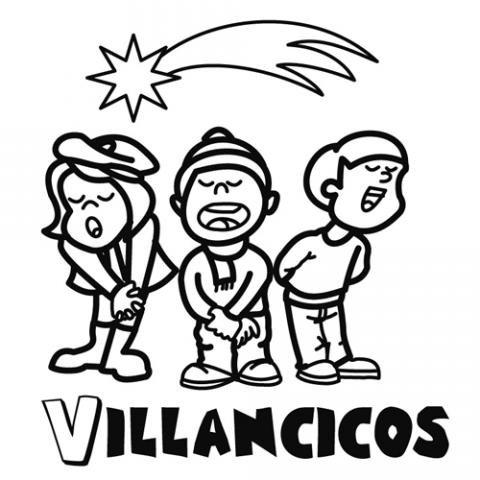 Coro de niños cantando Villancicos