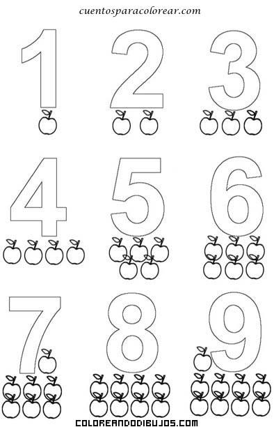 Asociar números con manzanas