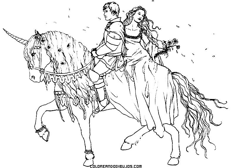 Pareja romántica en Unicornio